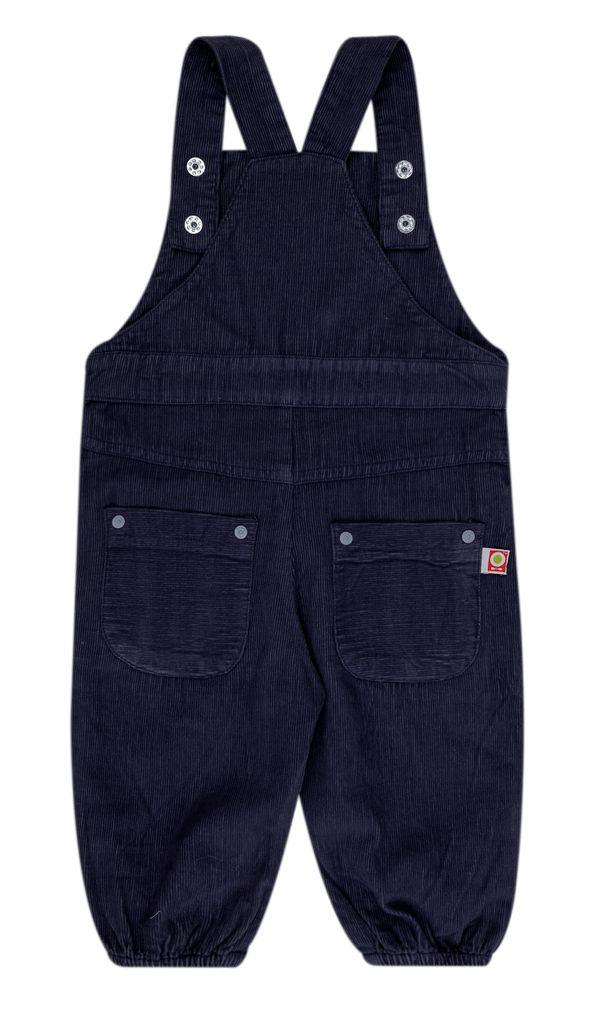 Katvig Baby Latzhose Overall aus Bio-Baumwolle in dunkelblau – Bild 2
