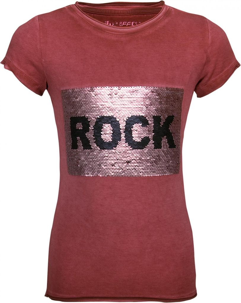 Blue Effect Mädchen T-Shirt normale Passform mit Wendepailletten