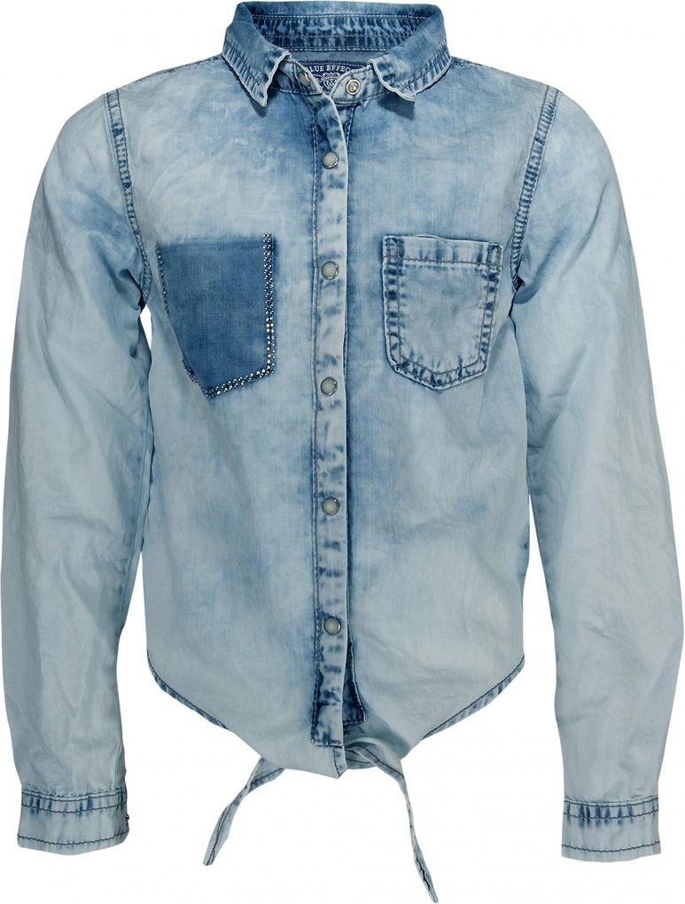 Blue Effect Mädchen Jeansbluse vorn zum Binden in hellblau light washed