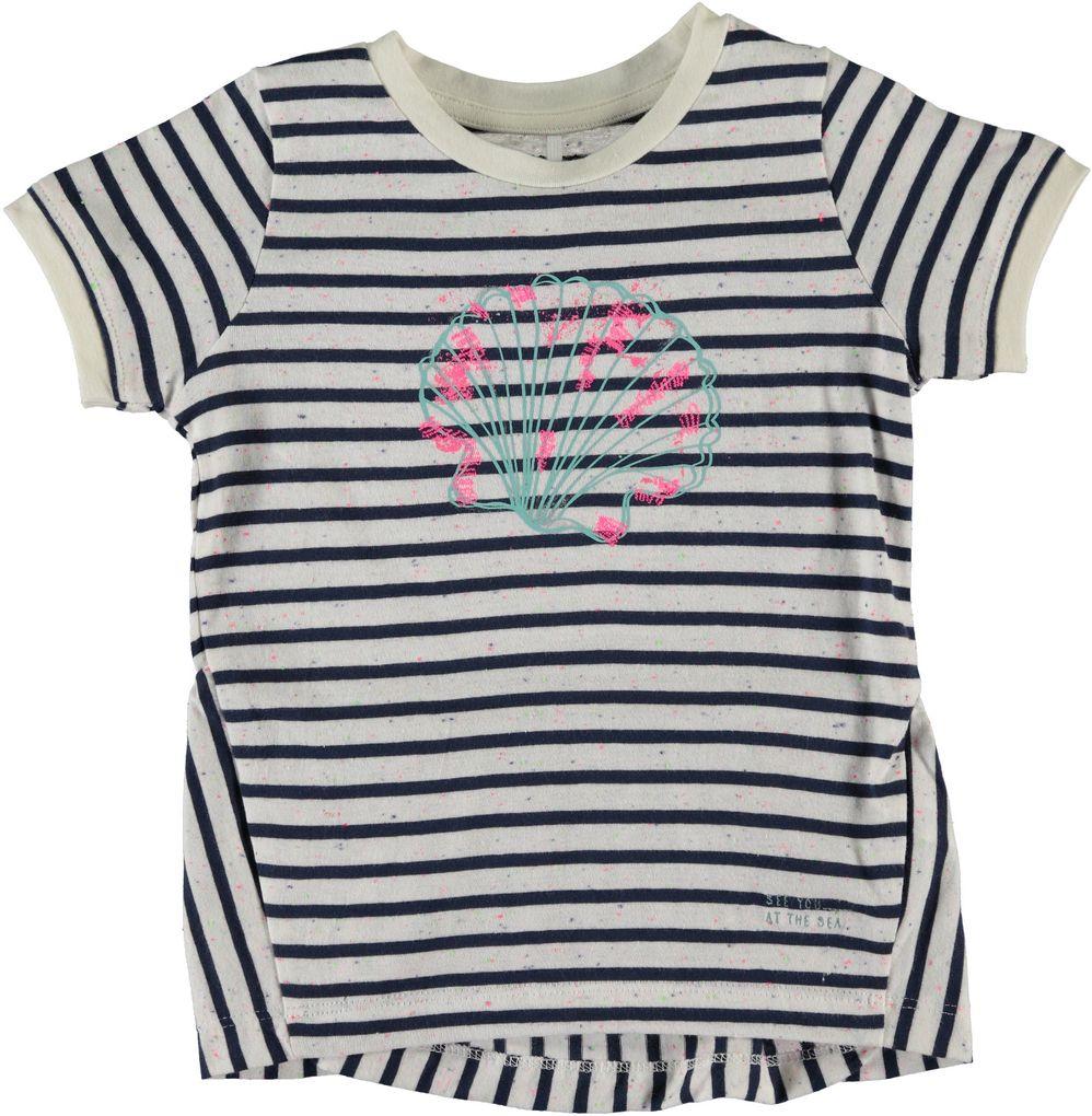Name it Mädchen T-Shirt Muschel gestreift Nitfunders mini