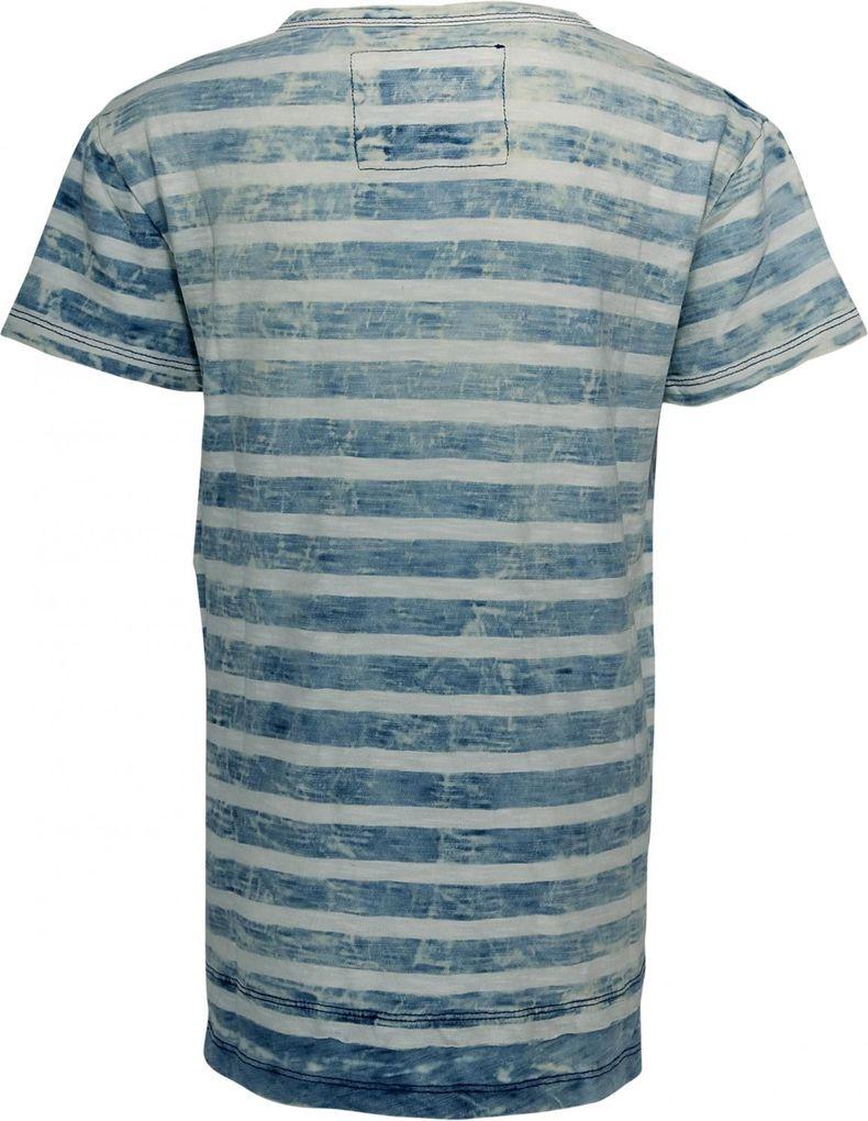 Blue Effect Long T-Shirt für Jungen Doppeloptik Streifen im Denimlook – Bild 2