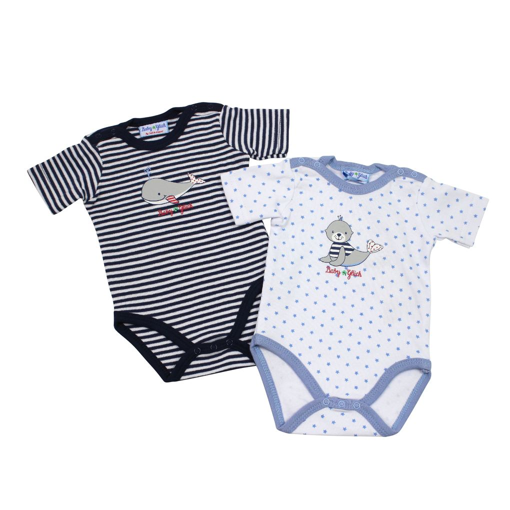 Salt and Pepper Baby Body Doppelpack für Jungen kurzarm