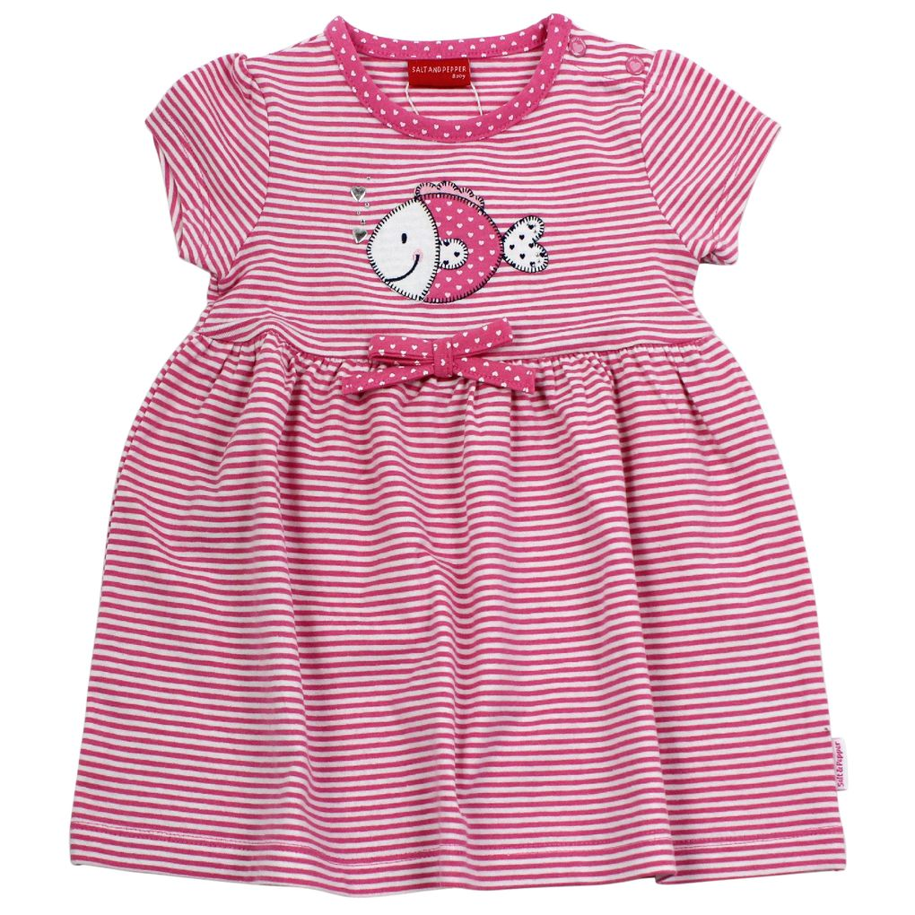 Salt and Pepper Baby Jersey-Kleid maritim gestreift