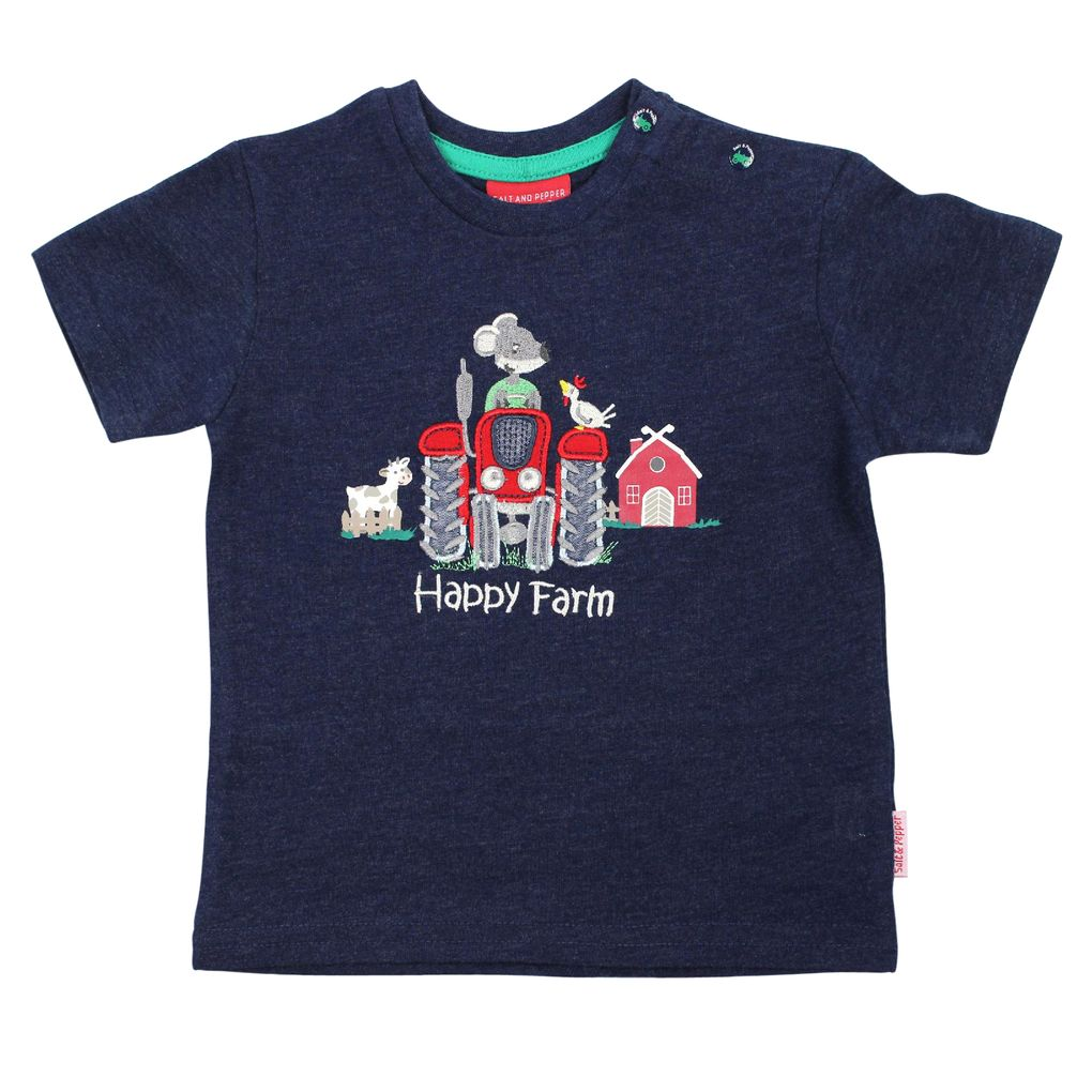 Salt and Pepper Baby Jungen T-Shirt Little Farmer Traktor – Bild 2