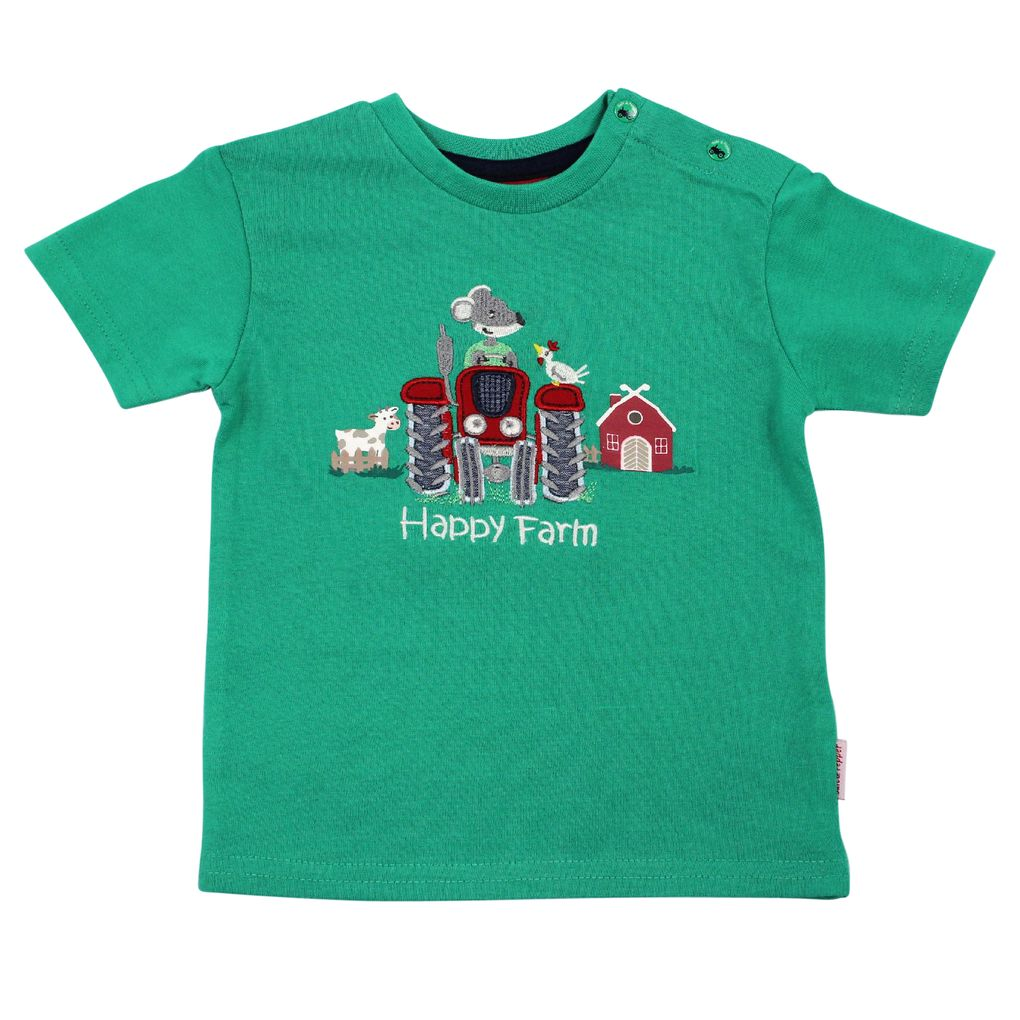 Salt and Pepper Baby Jungen T-Shirt Little Farmer Traktor