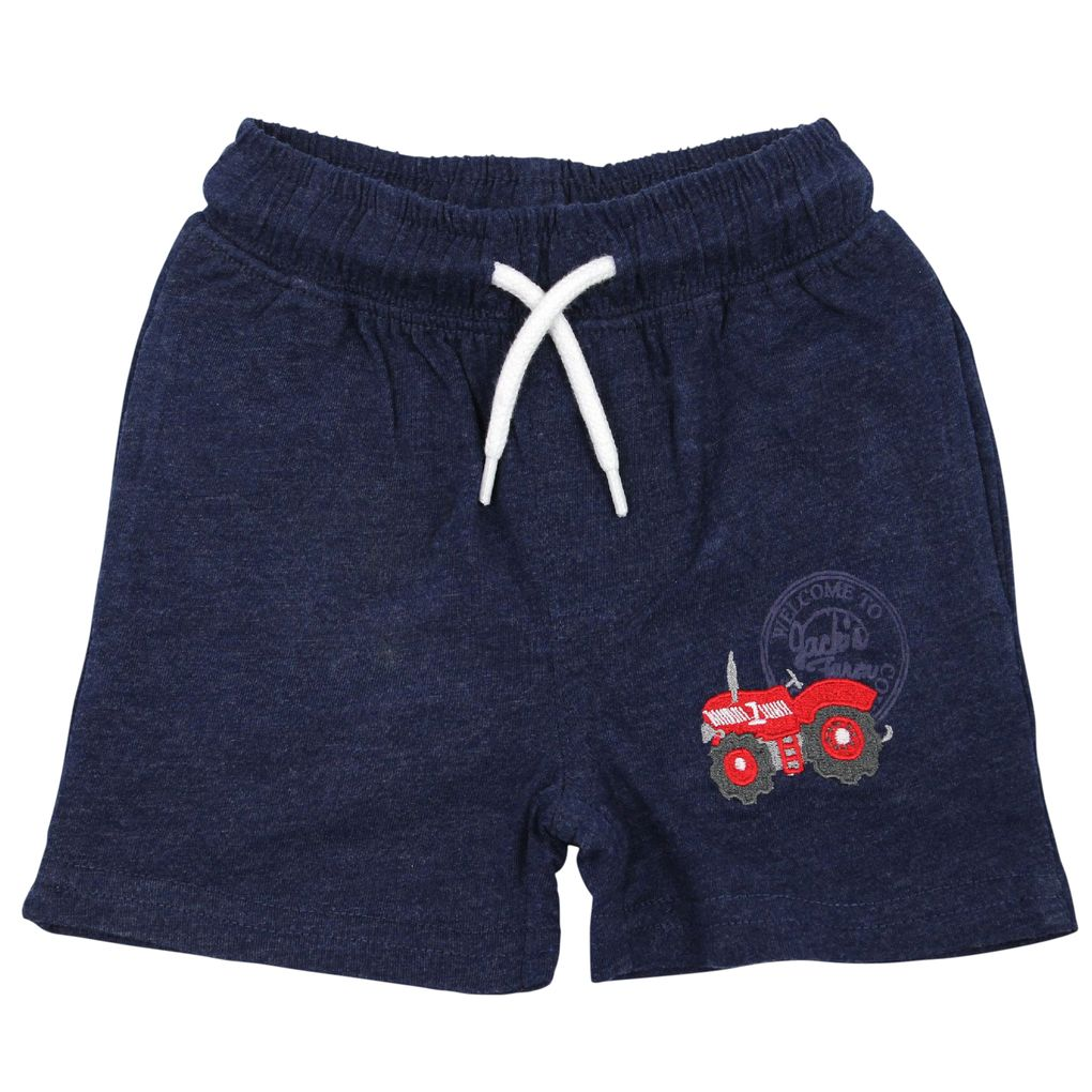 Salt and Pepper Baby Shorts kurze Jerseyhose Little Farm mit Traktor – Bild 2