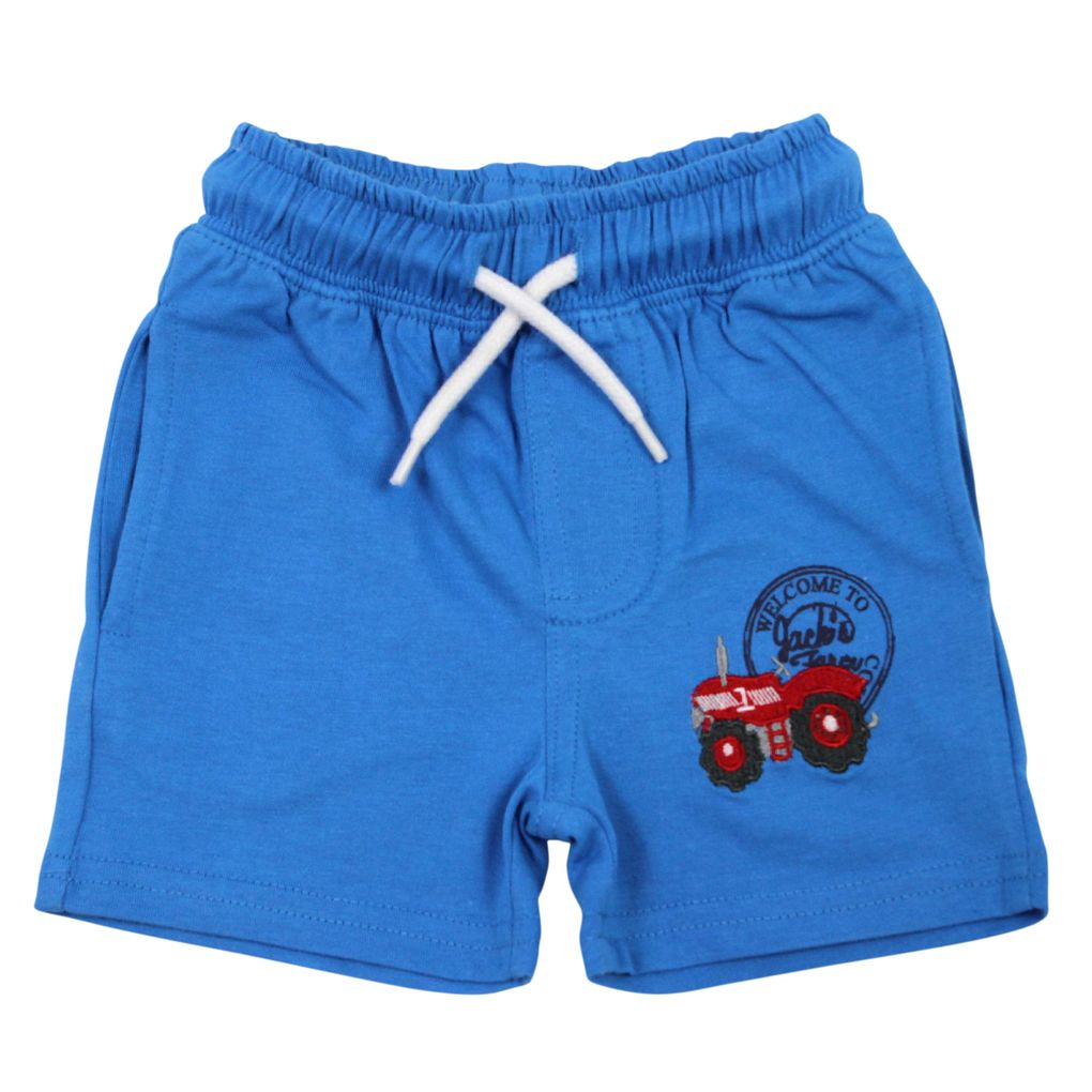 Salt and Pepper Baby Shorts kurze Jerseyhose Little Farm mit Traktor