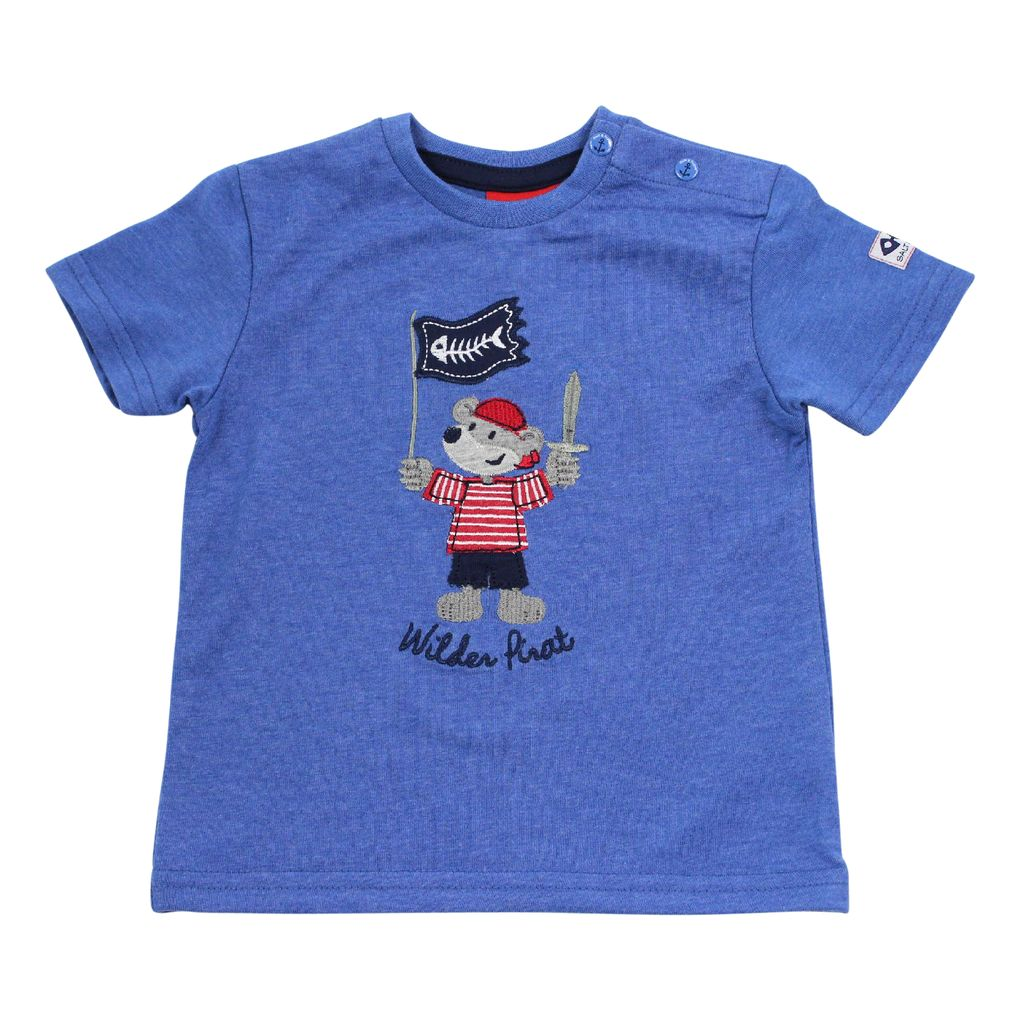 Salt and Pepper Baby Jungen T-Shirt Käpt´n bestickt
