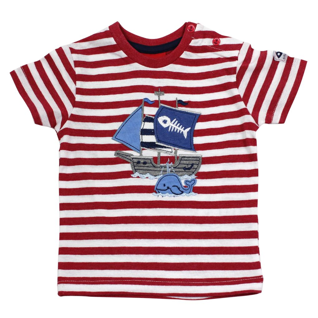 Salt and Pepper Baby T-Shirt Käpt´n Piratenschiff