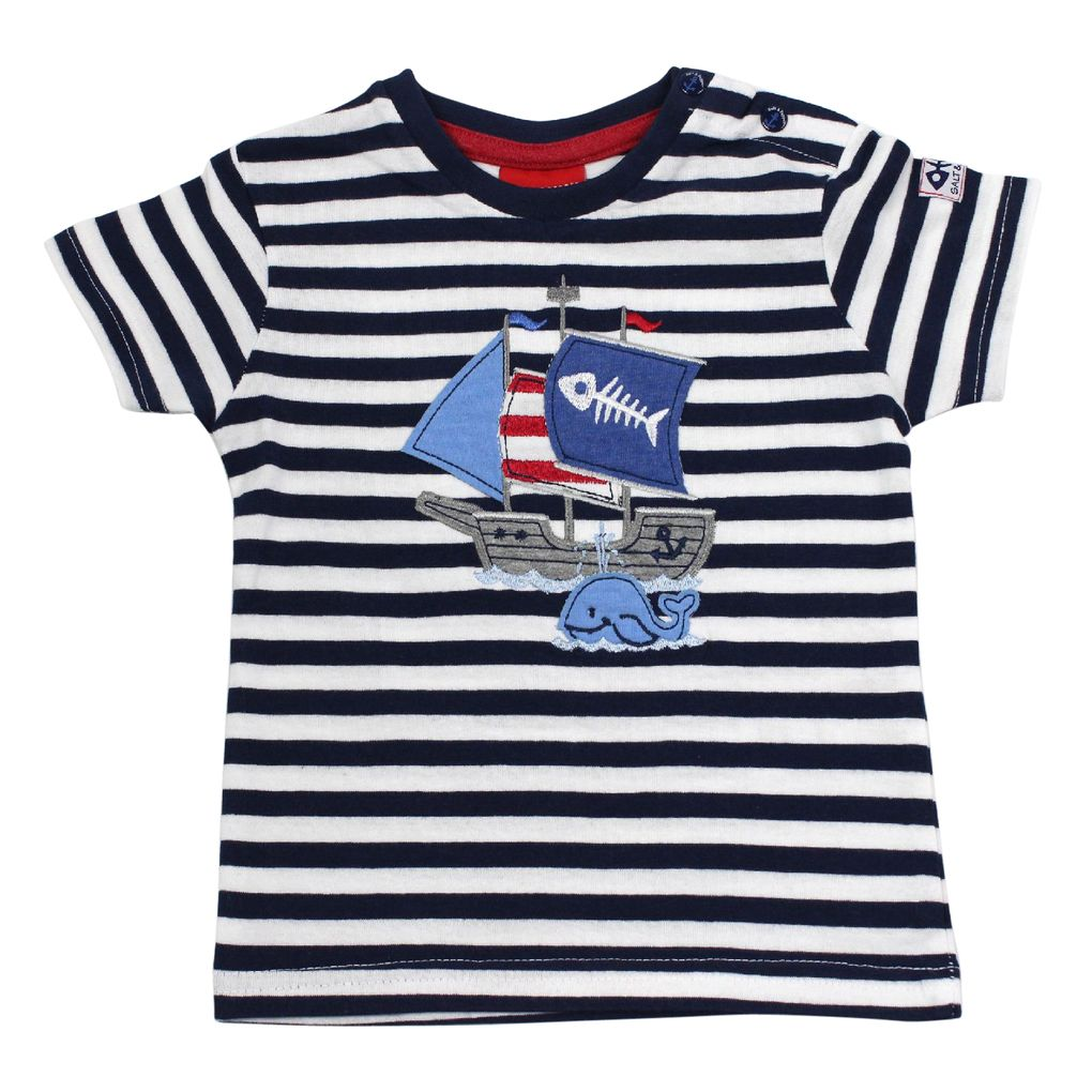 Salt and Pepper Baby Jungen T-Shirt Käpt´n Piratenschiff – Bild 2