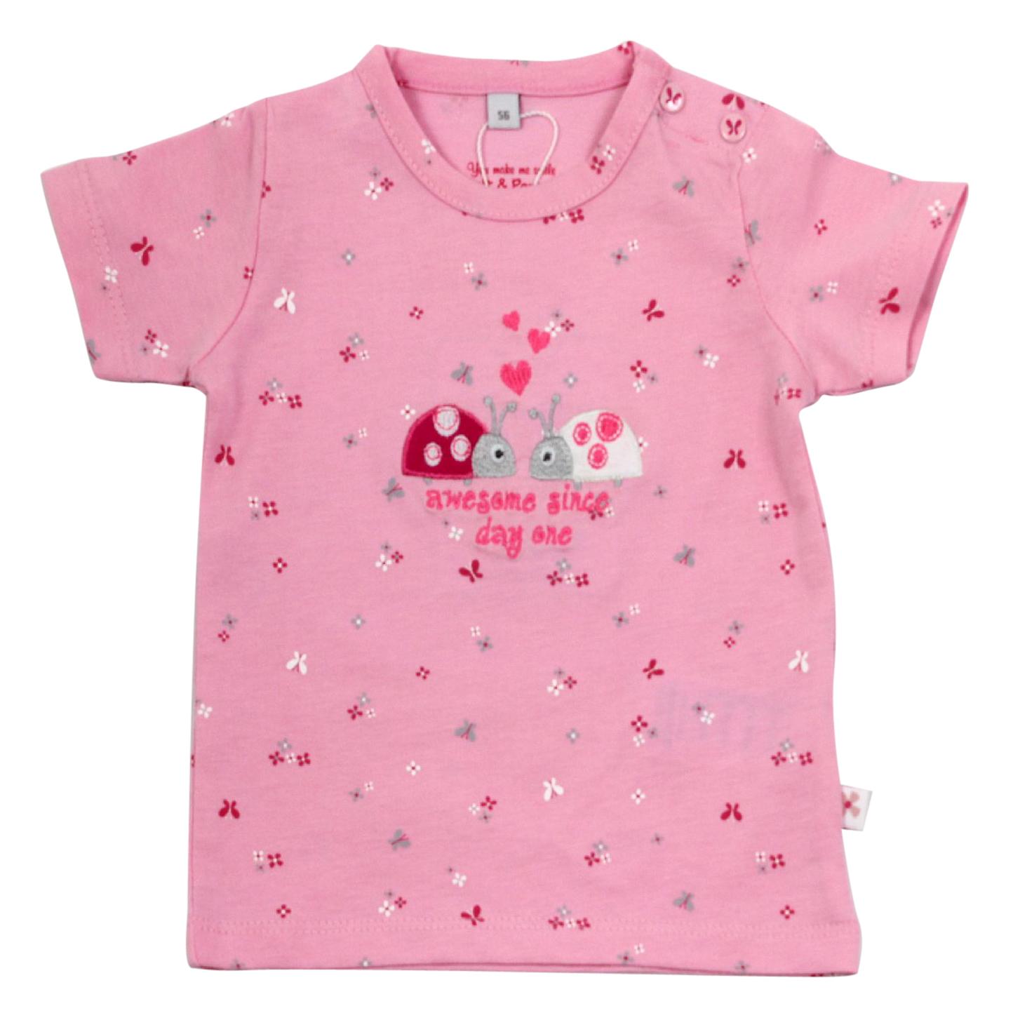 new concept 1711b 15943 Salt and Pepper Baby T-Shirt für Mädchen Marienkäfer Sunshine