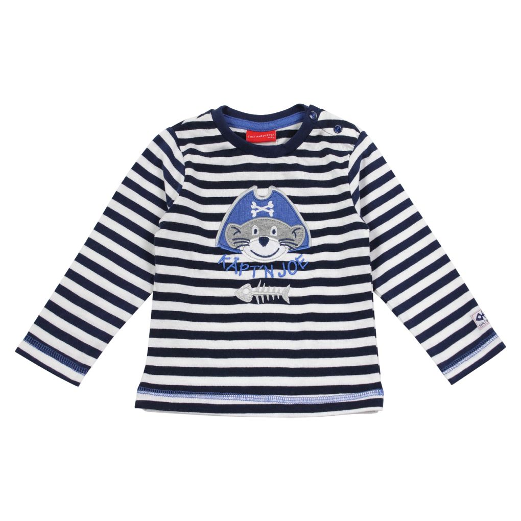 Salt and Pepper Baby Jungen Longsleeve Käpt´n Joe gestreift – Bild 2