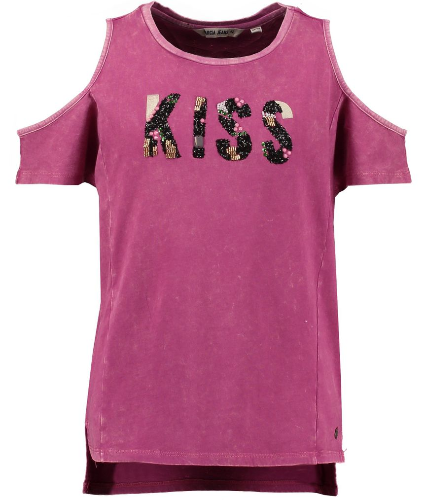Garcia Mädchen T-Shirt Kiss in exotic bloom schulterfrei