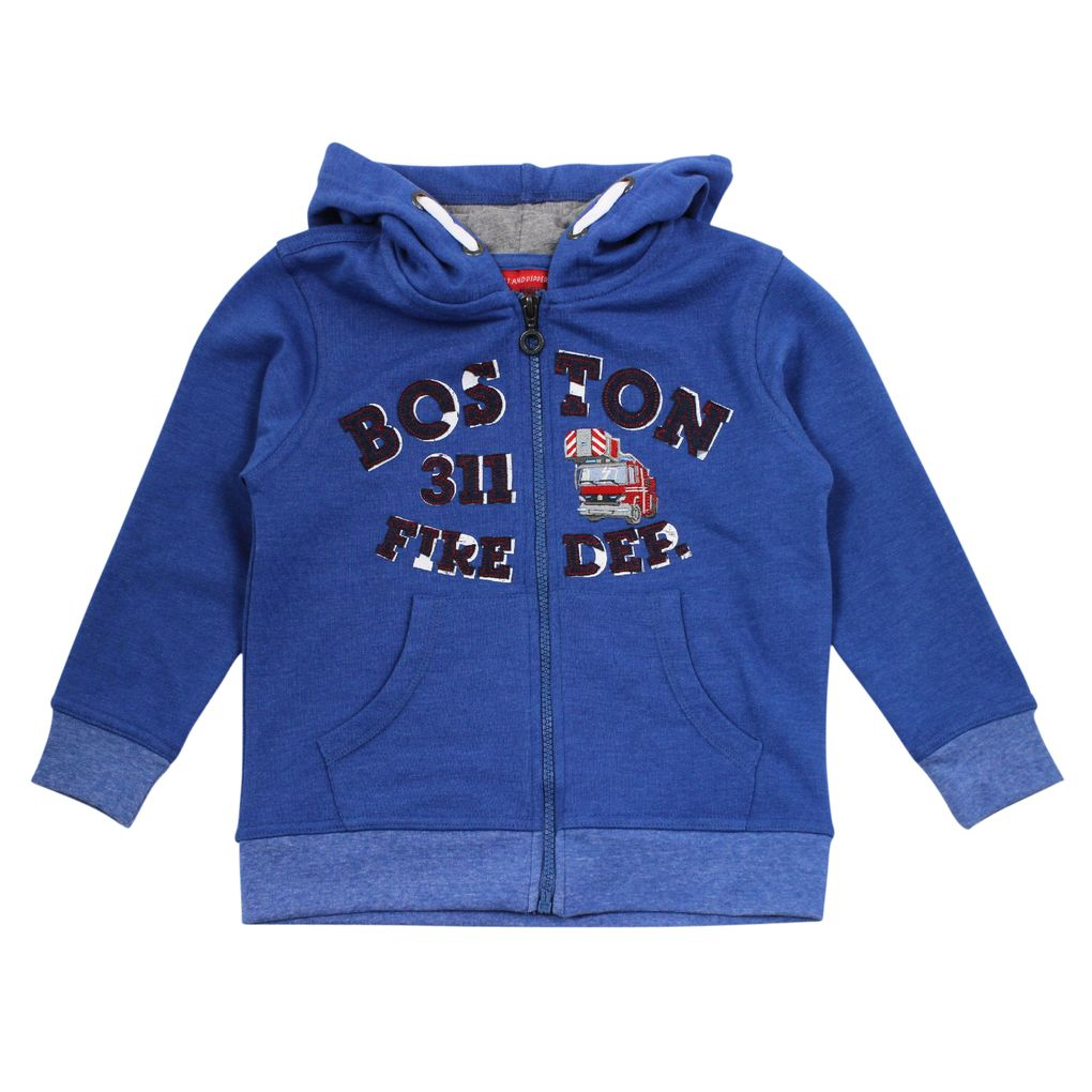 Salt & Pepper Jungen Kapuzen-Sweatjacke Firefighter
