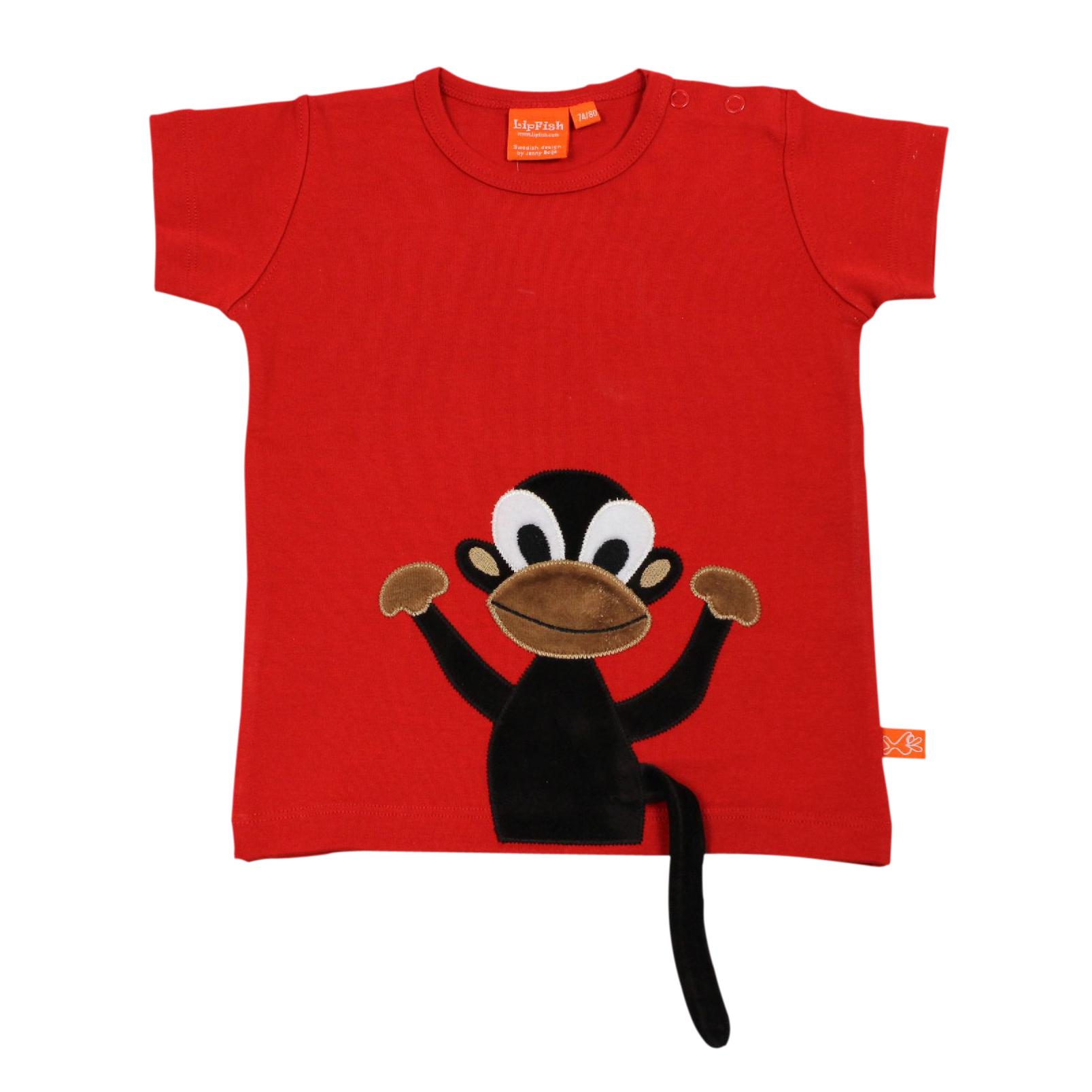 lipfisch kinder t shirt affe in rot. Black Bedroom Furniture Sets. Home Design Ideas
