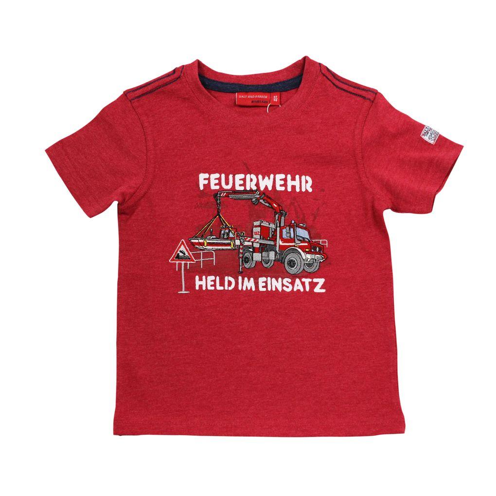 Salt & Pepper Jungen T-Shirt Feuerwehr mit Rettungsboot – Bild 2