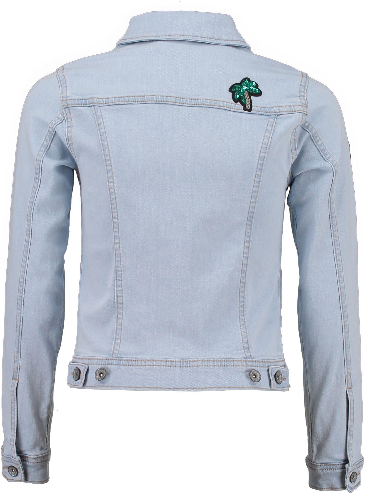 garcia m dchen jeansjacke denim mit badges sky bleach. Black Bedroom Furniture Sets. Home Design Ideas