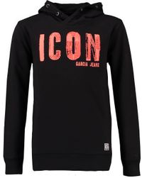 Garcia Jungen Kapuzen-Hoodie Icon in raw black