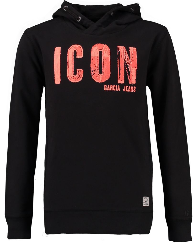 Garcia Jungen Kapuzen-Hoodie Icon in raw black – Bild 1
