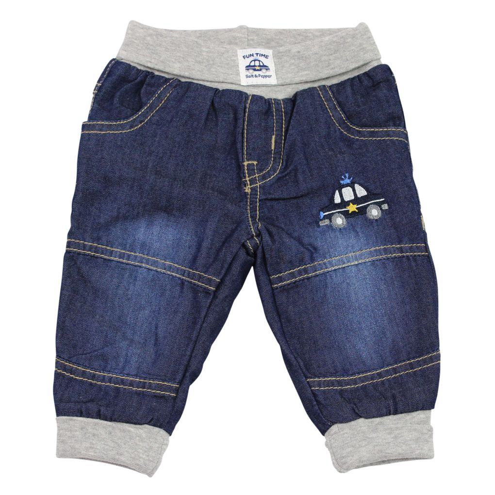 Salt and Pepper Baby Thermo-Jeans mit Softbund Polzeiauto Serie Fun Time – Bild 1