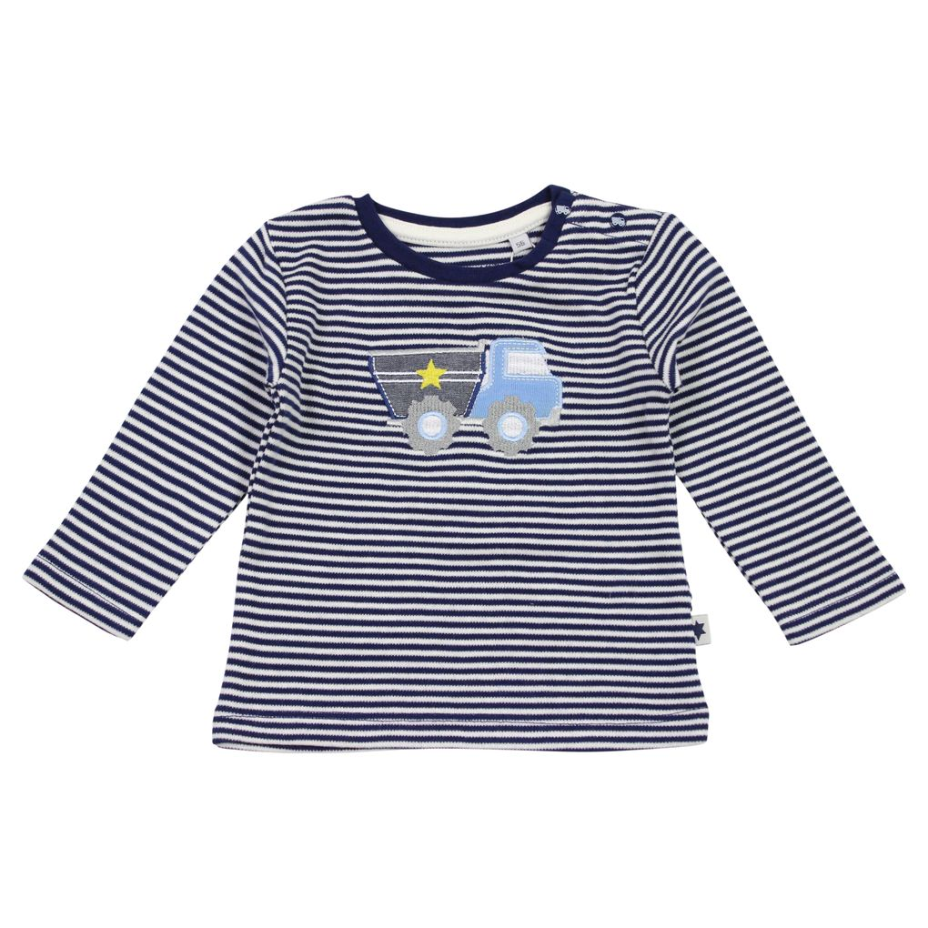 Salt and Pepper Baby Jungen Longsleeve Fun Time gestreift mit Kipper – Bild 2