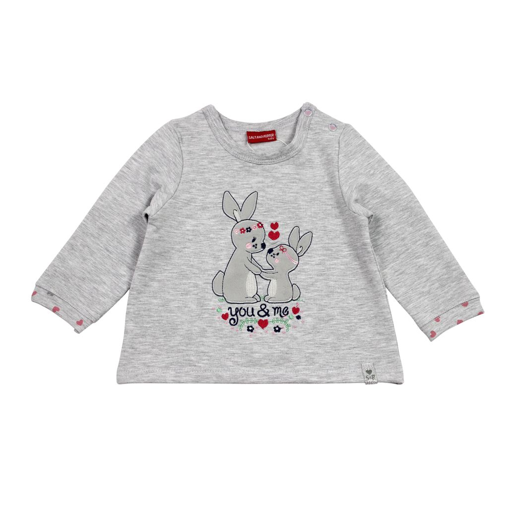Salt and Pepper Baby Sweatshirt Lovely uni Hasen angeraut – Bild 2