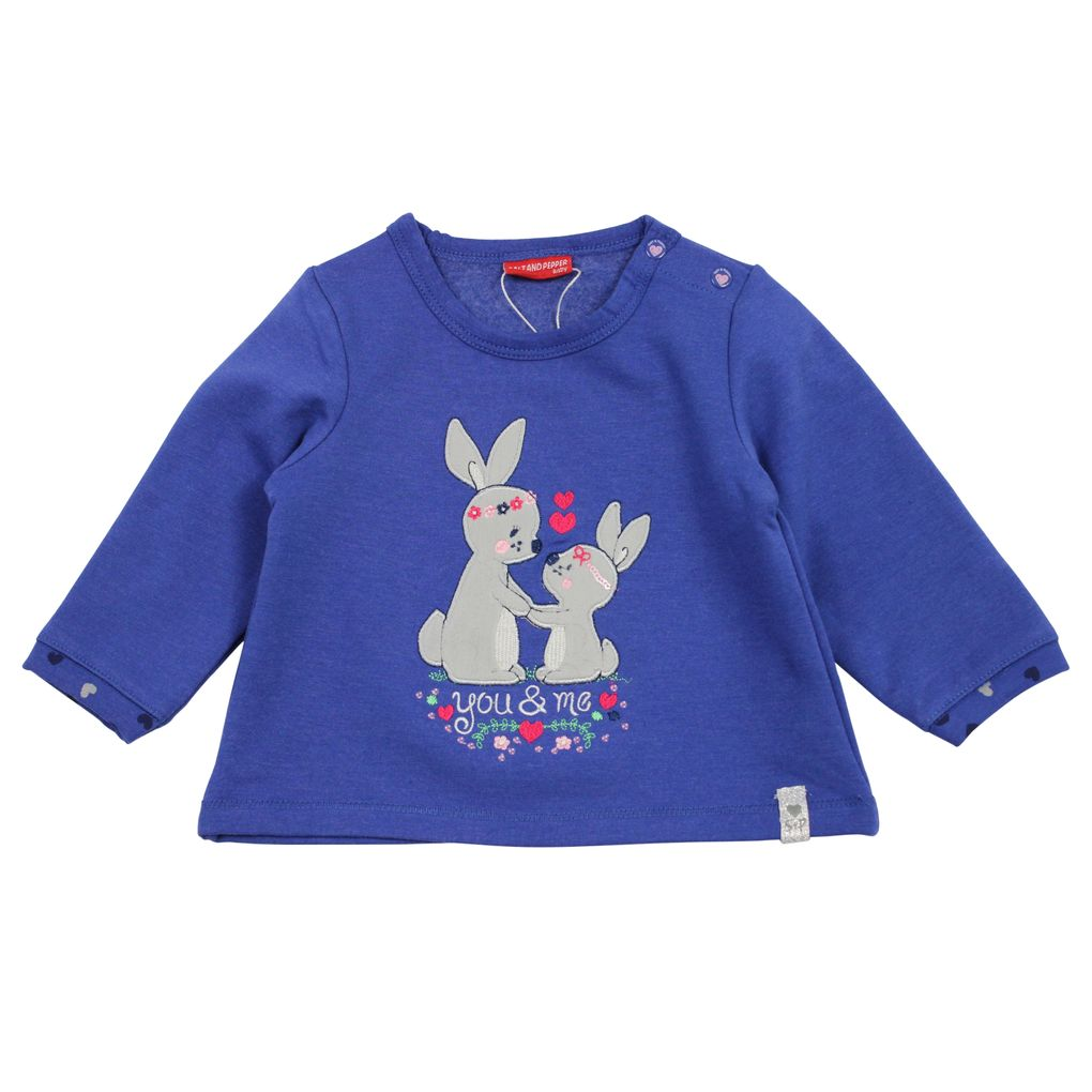 Salt and Pepper Baby Sweatshirt Lovely uni Hasen angeraut – Bild 1