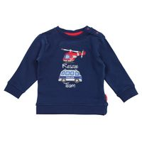 Salt & Pepper Baby Jungen Sweatshirt Little Hero Rescue Polizeiauto Hubschrauber – Bild 2