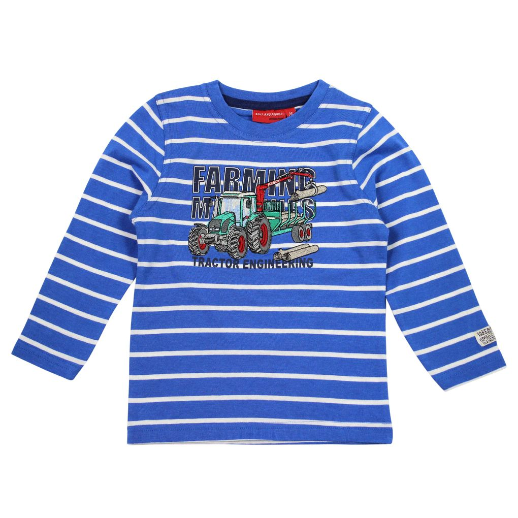 Salt and Pepper Longsleeve Farm Work stripe