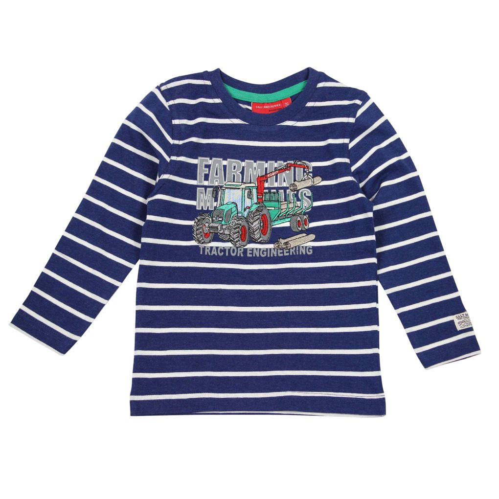 Salt and Pepper Longsleeve Farm Work stripe – Bild 2