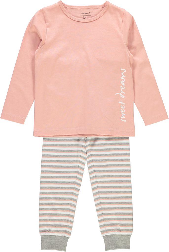 Name it kids Mädchen Schlafanzug Pyjama tan rose