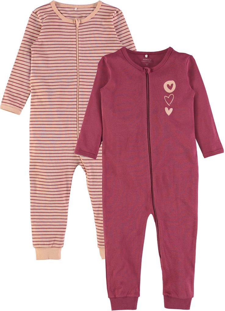 Name it Baby Mädchen Schlafoverall im Doppelpack dry rose