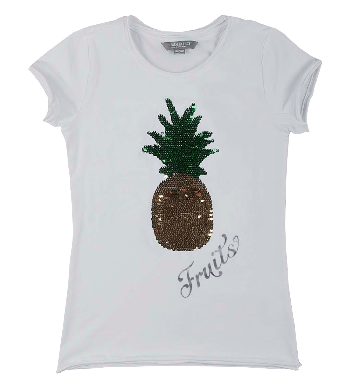 blue effect m dchen t shirt mit wendepailletten ananas. Black Bedroom Furniture Sets. Home Design Ideas