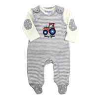 Salt and Pepper Baby Strampler-Set mit Shirt Traktor