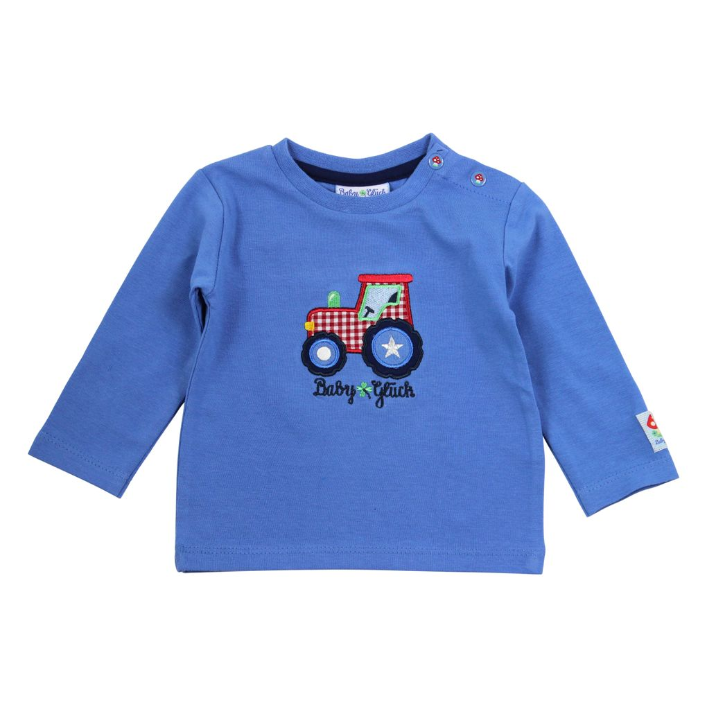 Salt and Pepper Baby Longsleeve uni Traktor – Bild 1