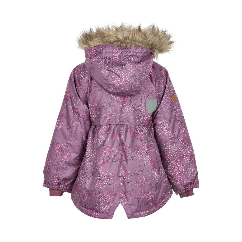 Minymo Mädchen Winterjacke mit Fellrandkapuze Wassersäule 8000mm atmungsaktiv – Bild 2