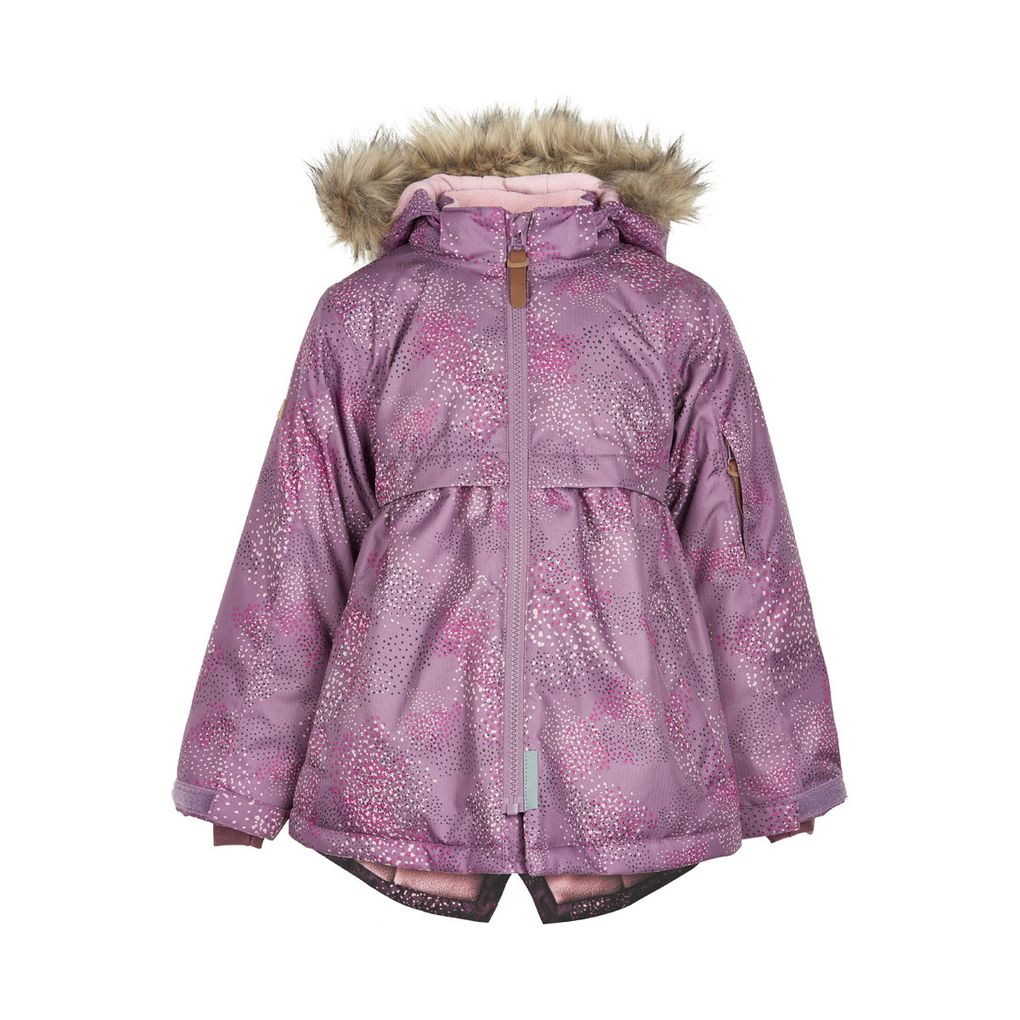 Minymo Mädchen Winterjacke mit Fellrandkapuze Wassersäule 8000mm atmungsaktiv