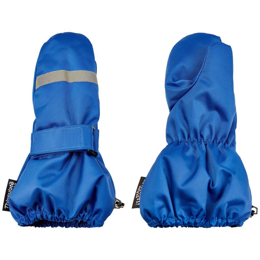 Minymo Kinder Stulpen-Fausthandschuhe wasserfest blau – Bild 2