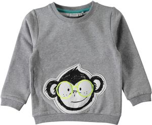 Name it Jungen Sweater Affe mit Brille Nitfefly angeraut