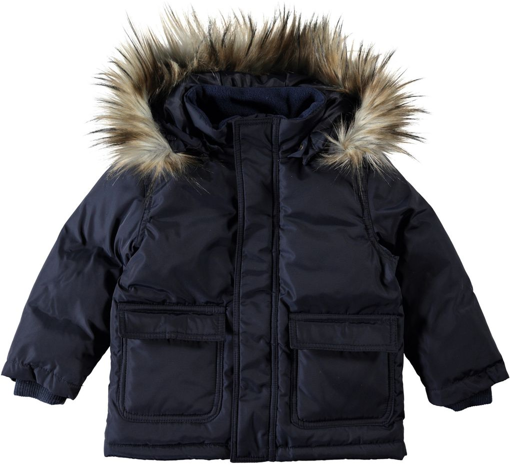 Name it mini Jungen Daunenjacke Winterjacke dunkelblau Nitmarco