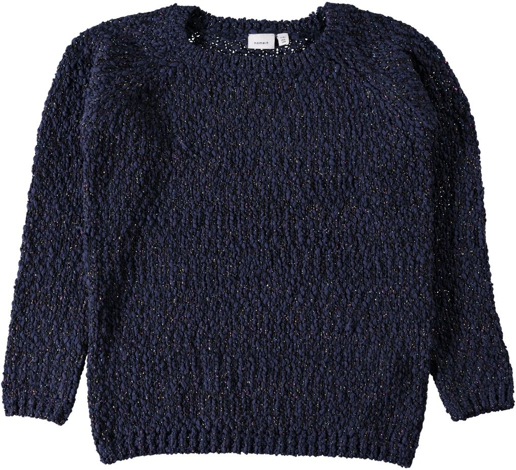 Name it Mädchen Strickpullover mit Lurexfaden Nithip sky captain