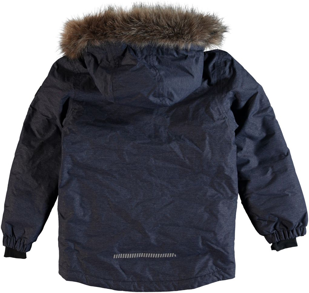 Name it Jungen Winter Parka mit Fellrand-Kapuze Nitmedenim wasserfest 8000 mm – Bild 2