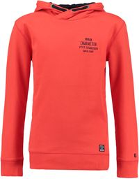 Garcia Jungen Kapuzen-Sweatshirt urban character in fiery red