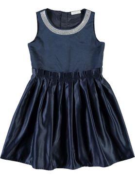 Name it Mädchen Fest-Kleid in dunkelblau Nitididde 001