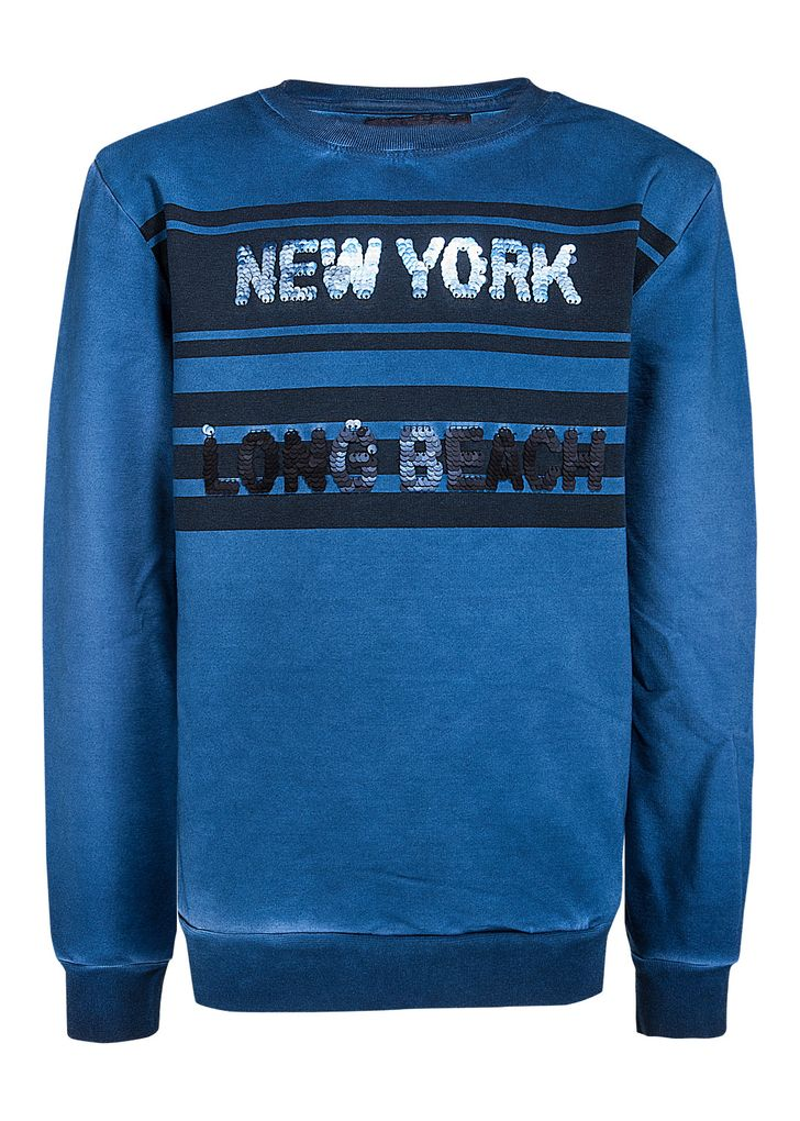 Blue Effect Jungen Sweatshirt mit Wendepailletten cool dyed