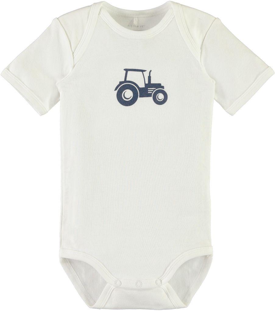Name it Baby Kurzarmbody Traktor 3er Set ensign blue – Bild 3