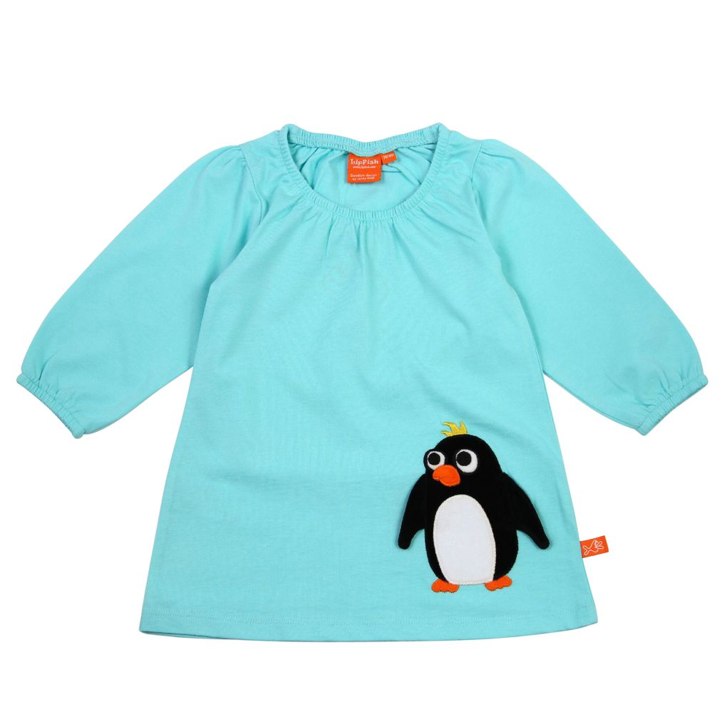 Lipfish Mädchen Jerseykleid Peter Penguin in light blue