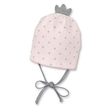 Sterntaler Baby Prinzessinnen Veloursmütze zum Binden mit Krone rosa 001