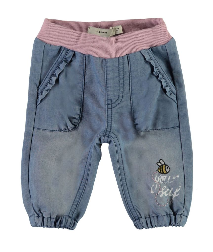 Name it Baby Mädchen Jeanshose Jeggings NBFRie Denim mit Patches