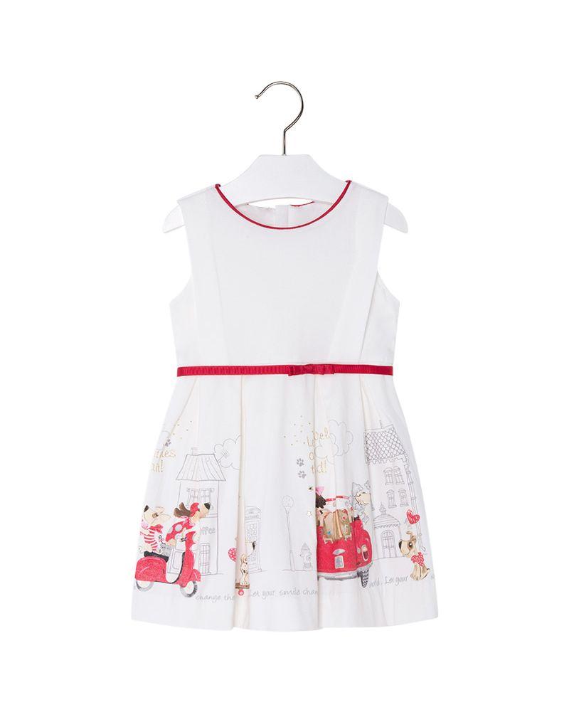 Mayoral Mädchen festliches Sommerkleid rojo